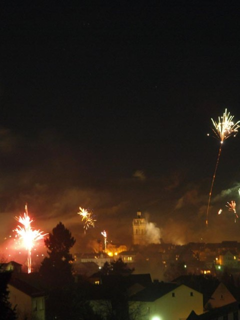 Silvester 2014/15 in Bad Wildungen. Bild: Andreas Bubrowski