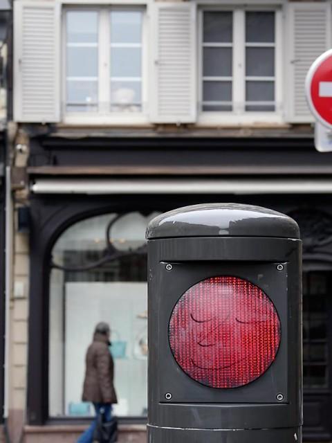 Straßenverkehrsregelung in Strasbourg | Bild: Andreas Bubrowski