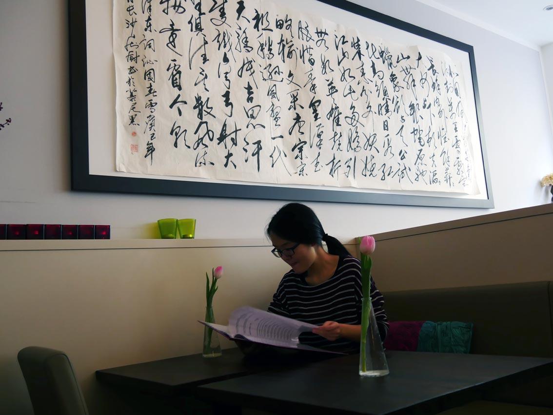 Mao-Zitat im China-Restaurant   Bild: Andreas Bubrowski