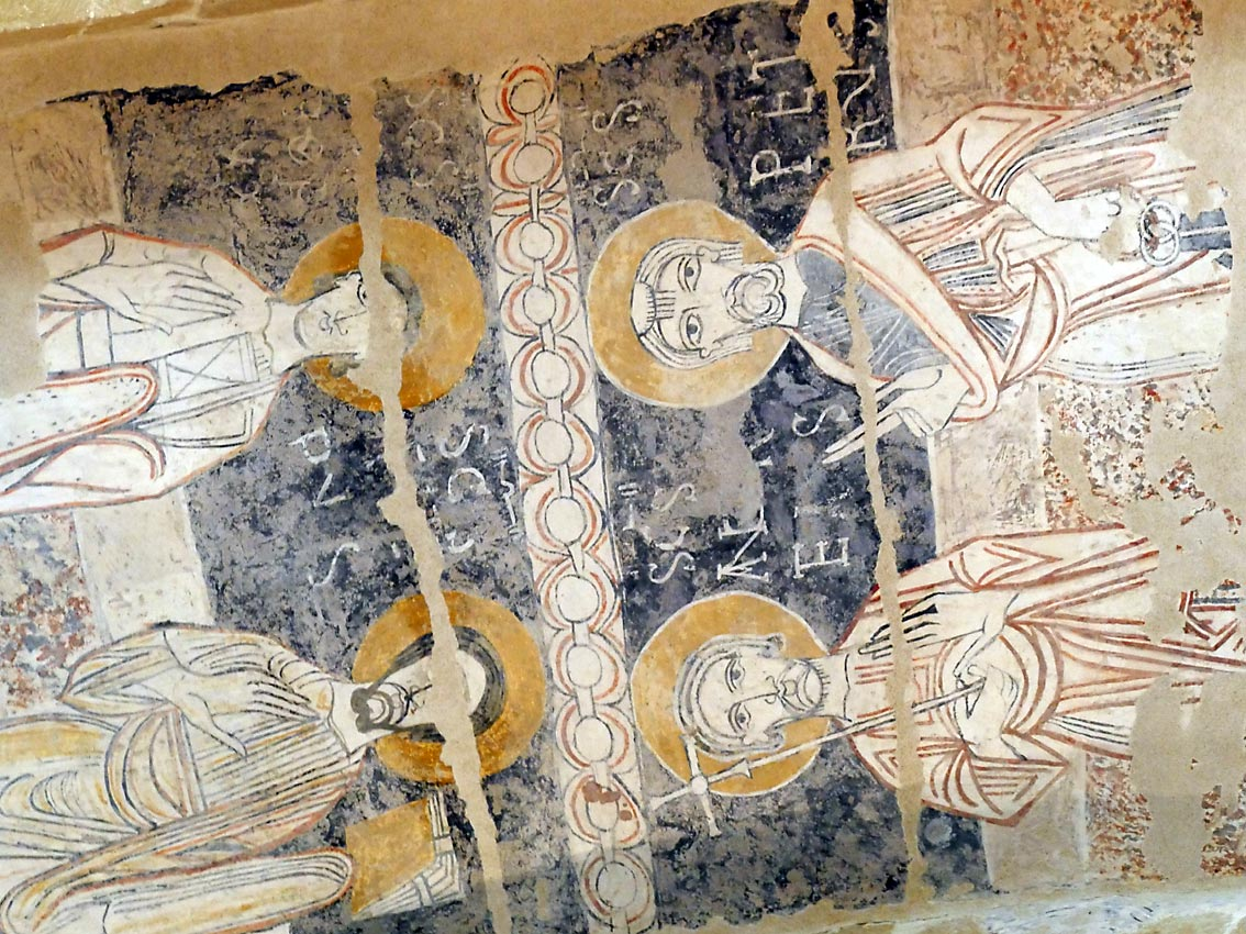 romanischen Fresken aus dem 12. Jahrhundert   Bild: Andreas Bubrowski
