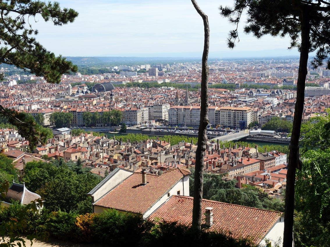 Lyon von Notre-Dame de Fourvière aus   Bild: Andreas Bubrowski